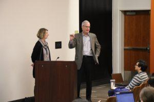 Elizabeth Boyd and John Slattery answer audience questions.