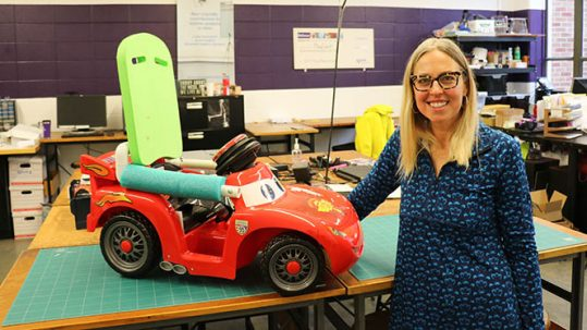 Heather Feldner with Car
