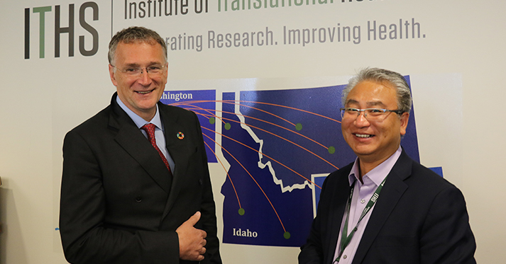 Dr. Ferrari and ITHS Executive Director Tong Sun