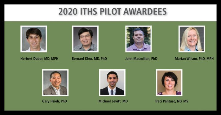 collage of the winners of the 2020 ITHS Pilot Awards