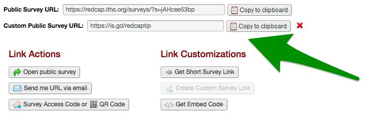 """The custom link will be associated with your REDCap project as long as want. You can find the link in the """"Manage Survey Participants"""" page at any time."""