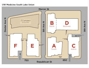 a map of the UW SLU campus