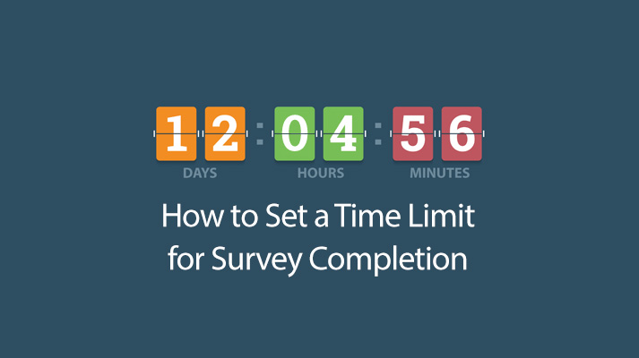 How to Set a Time Limit for Survey Completion