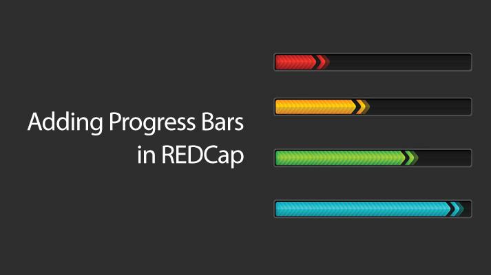 Adding Progress Bars in REDCap
